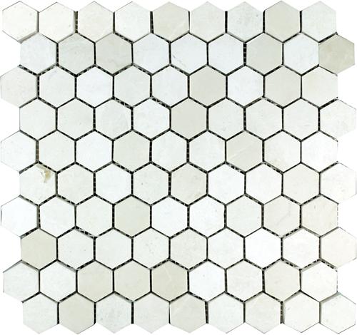 Mosaic Hexagon Plain Bottocino