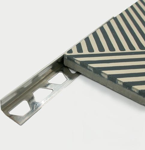 Corner profile stainless steel 16mm 16mm x 2,5 mtr