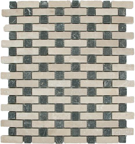 Mosaic Brick Basket Bottocino Toros Black