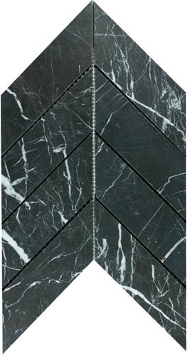 Mosaic Chevron Large Toros Black
