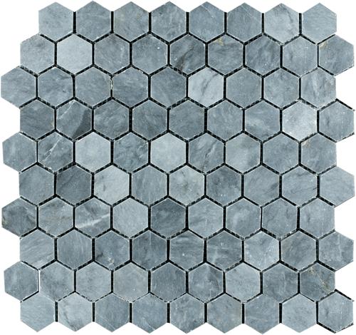 SAM Mosaic Hexagon Plain Blue Stone