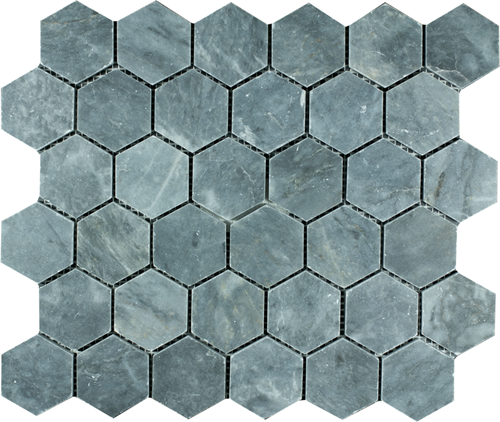 SAM Mosaic Hexagon Plain Blue Stone BIG