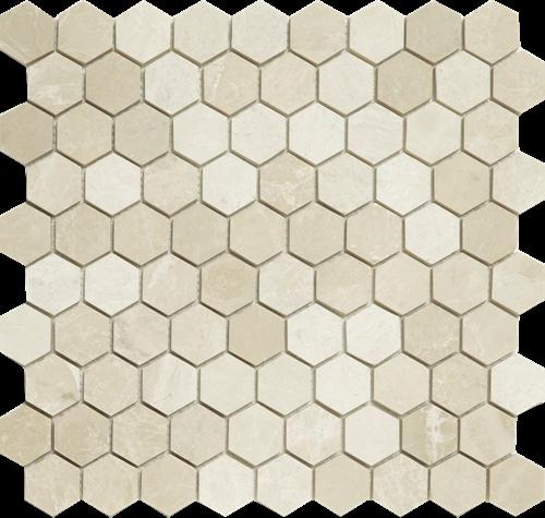 SAM Mosaic Hexagon Plain Bottocino