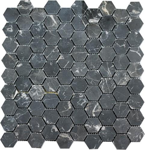 Mosaic Hexagon Plain Toros Black