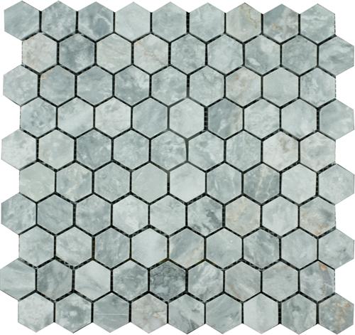 SAM Mosaic Hexagon Plain Silver Shadow