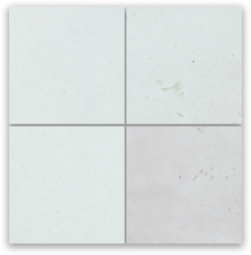 Zellige Neige Blanc 10x10cm