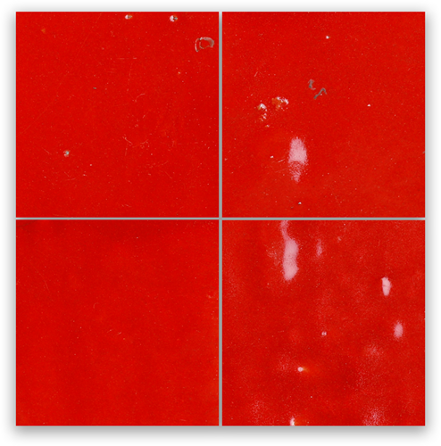 Zellige Rouge Sang 10x10cm