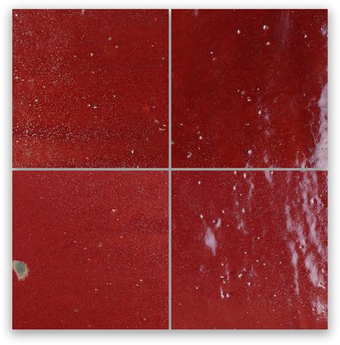 Zellige Bordeaux Rouge 10x10cm