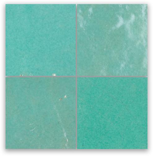 Zellige Vert Turquoise 10x10cm