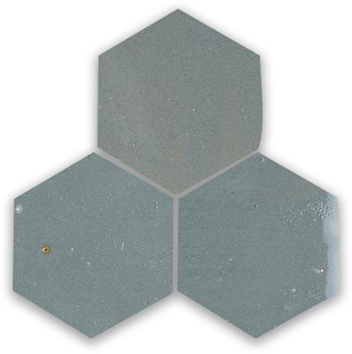 SAM Zellige Anthracite Hexagone