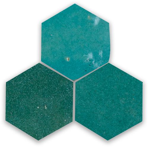 Zellige Atlas Petrol Hexagone