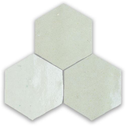 Zellige Blanc Hexagone