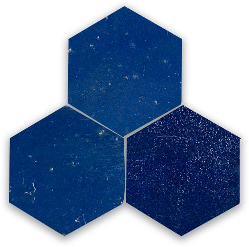 SAM Zellige Bleu Foncee Hexagone