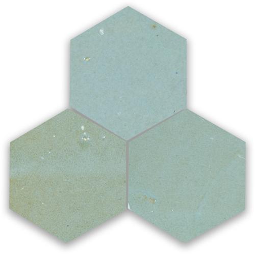 Zellige Bleu Lumiere Hexagone