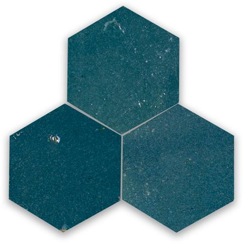 Zellige Bleu Marine Hexagone