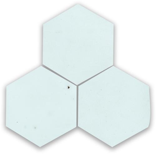 Zellige Bleu Solaire Hexagone