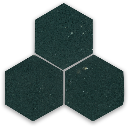 Zellige Charcoal Hexagone