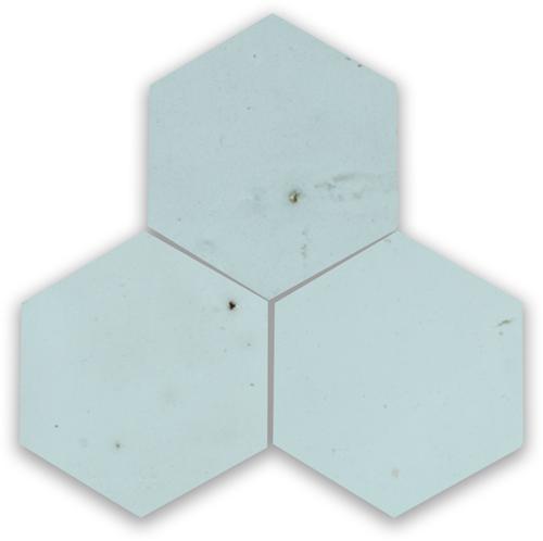 SAM Zellige Glacier Bleu Hexagone