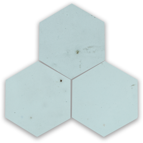 Zellige Glacier Bleu Hexagone