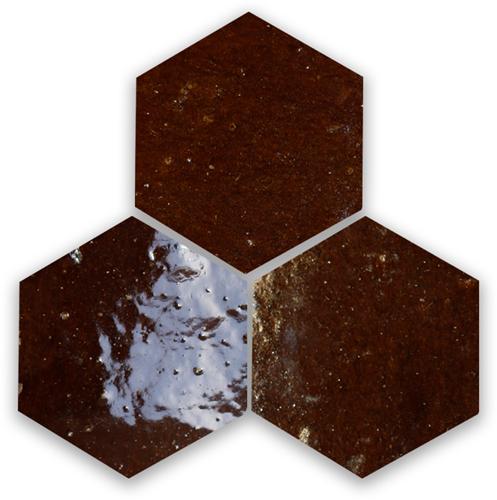 Zellige Marron Hexagone