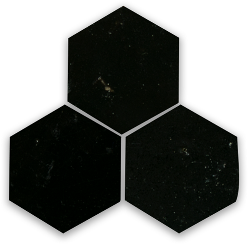SAM Zellige Noir Hexagone