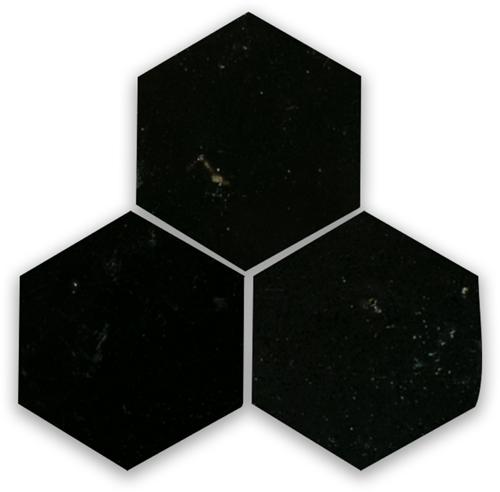 Zellige Noir Hexagone