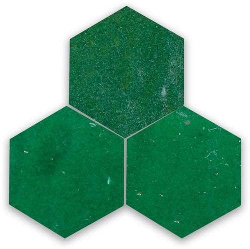 Zellige Vert Foncee Hexagone