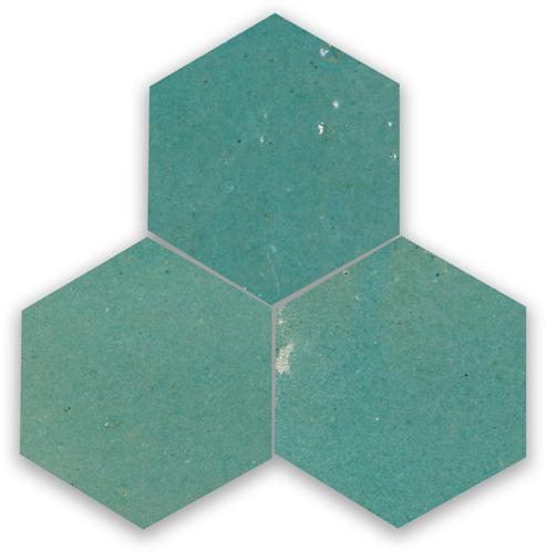 SAM Zellige Vert Gris Hexagone