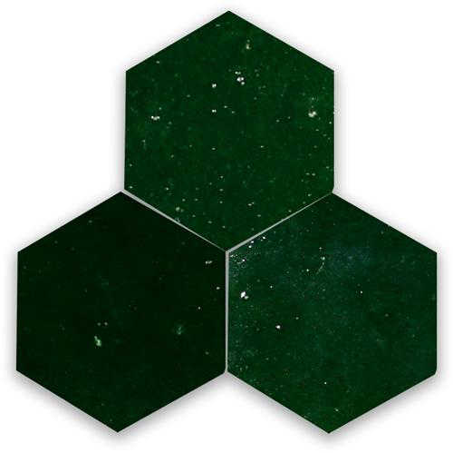 Zellige Vert Mousse Hexagone