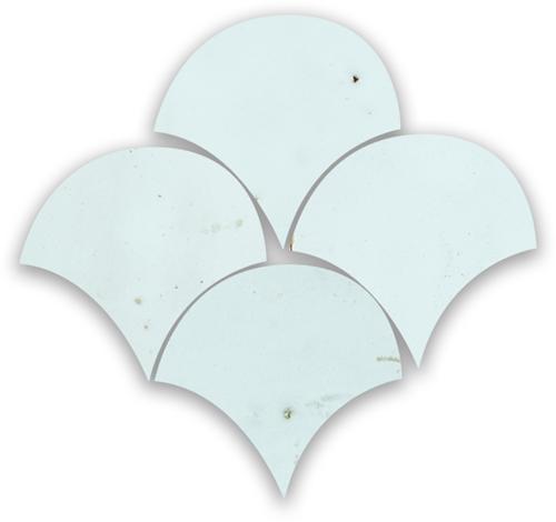 Zellige Bleu Solaire Poisson Echelles 10x10cm