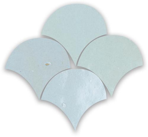 SAM Zellige Pastel Bleu Poisson Echelles 10x10cm