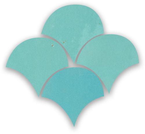 Zellige Bleu Ciel Poisson Echelles 10x10cm