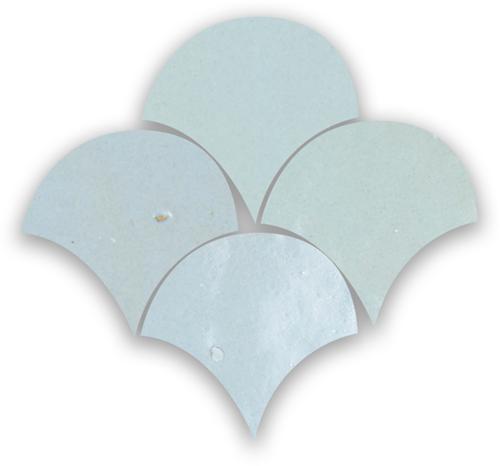 Zellige Pastel Bleu Poisson Echelles 5x5cm