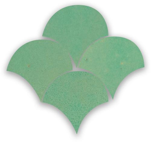 Zellige Turquoise Poisson Echelles 5x5cm