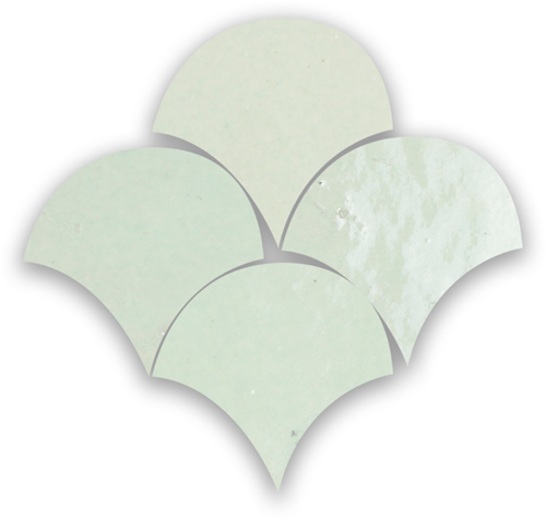 Zellige Vert Clair Poisson Echelles 5x5cm