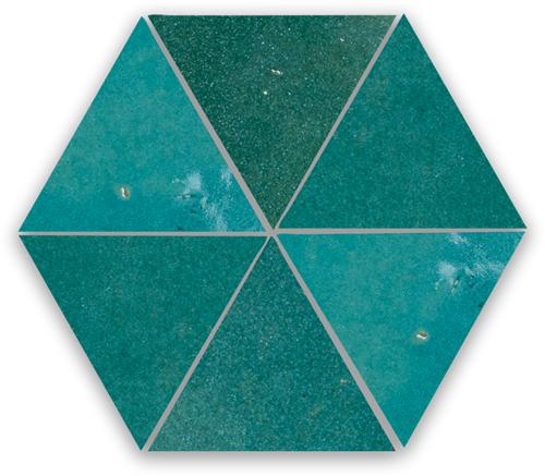 Zellige Atlas Petrol Triangle