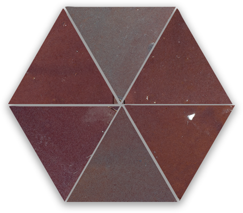Zellige Aubergine Clair Triangle