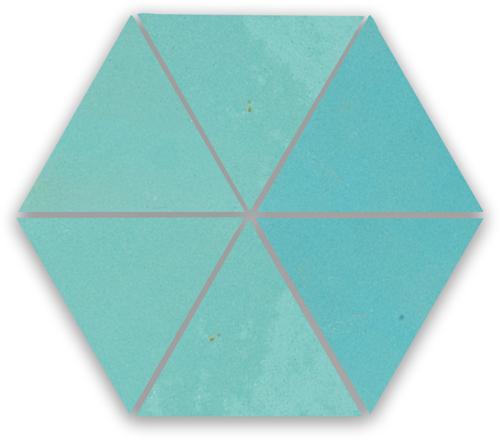 SAM Zellige Bleu Ciel Triangle