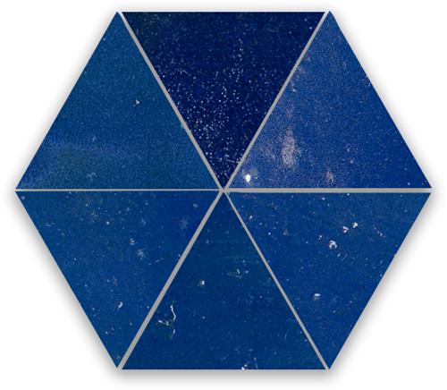 SAM Zellige Bleu Foncee Triangle