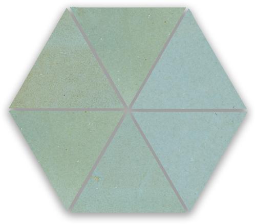 SAM Zellige Bleu Lumiere Triangle