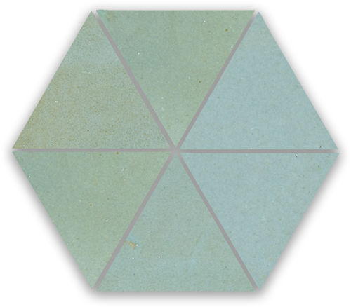 Zellige Bleu Lumiere Triangle