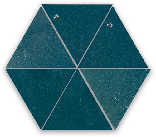 Zellige Bleu Marine Triangle