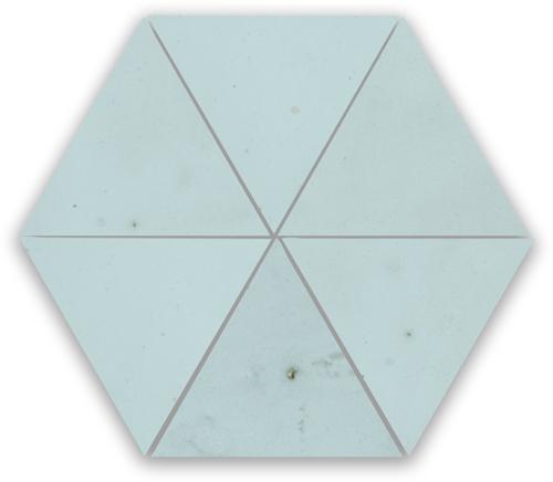 Zellige Glacier Bleu Triangle