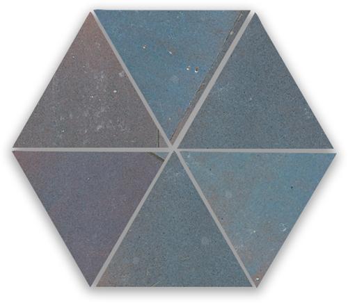 Zellige Gris Aubergine Triangle