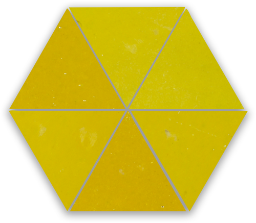 Zellige Jaune Triangle