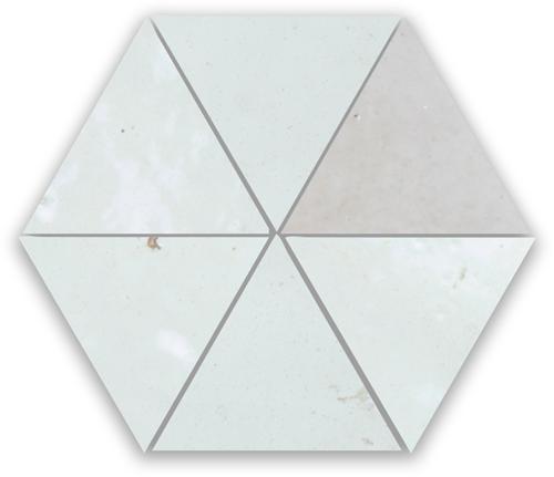 Zellige Neige Blanc Triangle