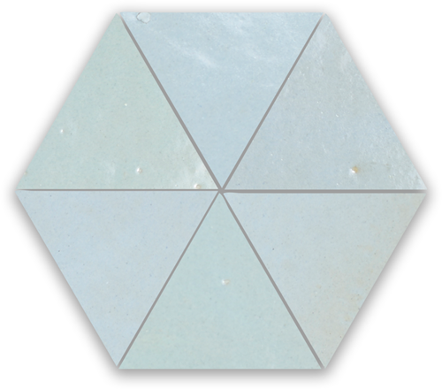 SAM Zellige Pastel Bleu Triangle