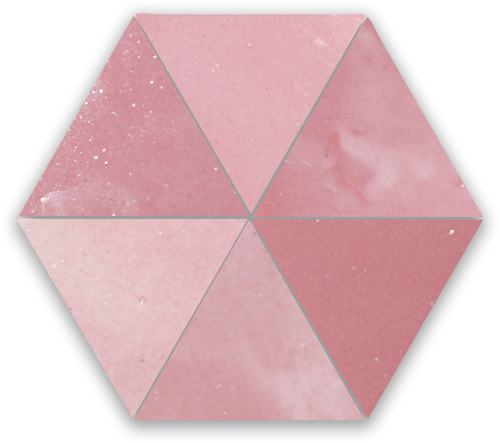 Zellige Rose Vieux Triangle