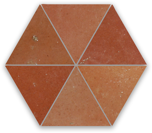 Zellige Rose Rouge Triangle