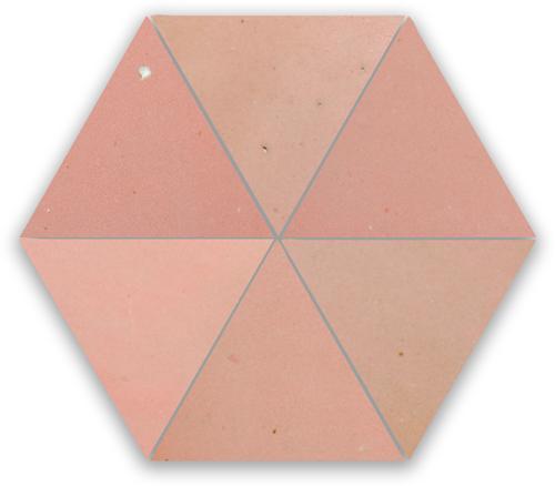 SAM Zellige Rose Doux Triangle